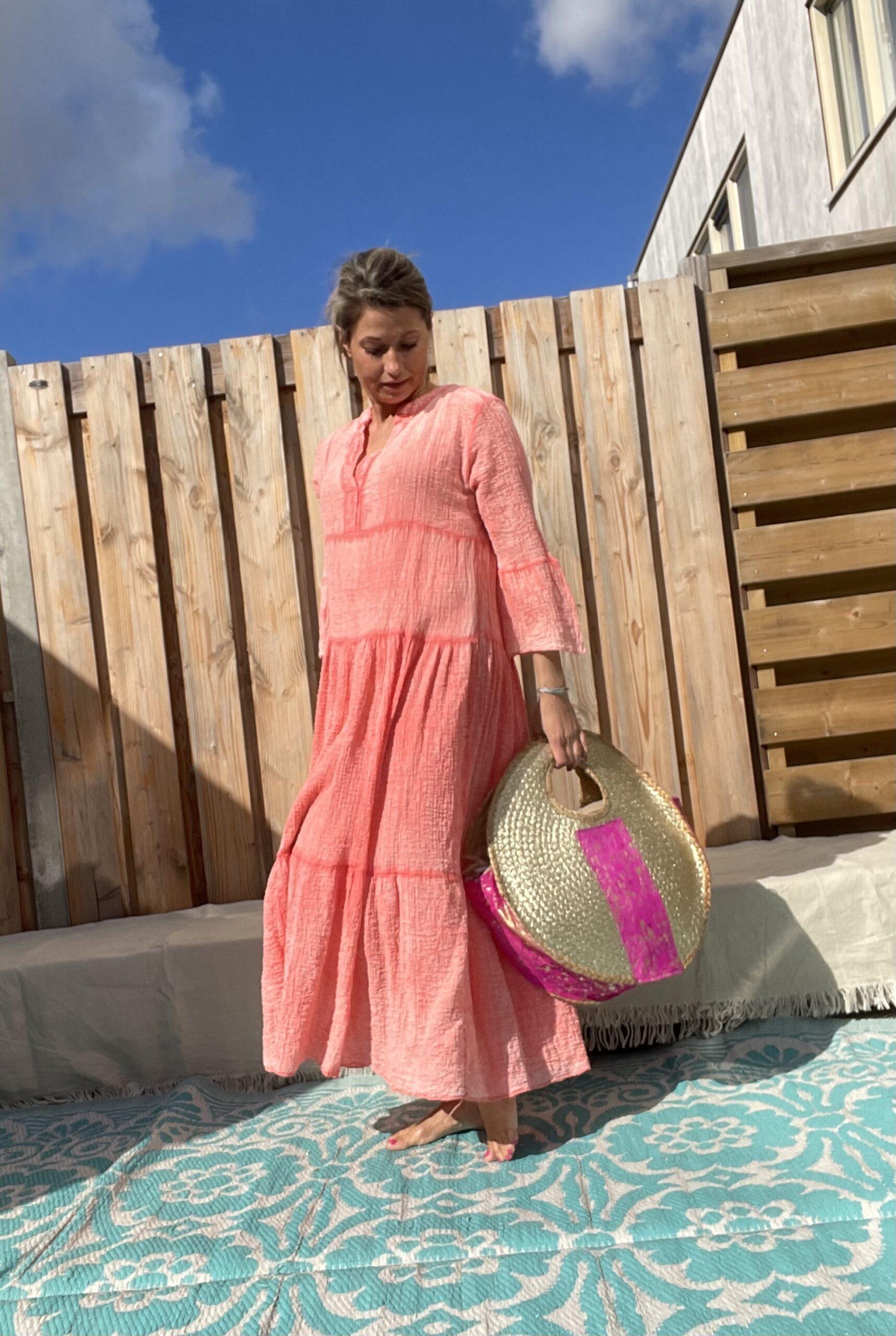 Olivia Riet tas met Fuchsia kleur.