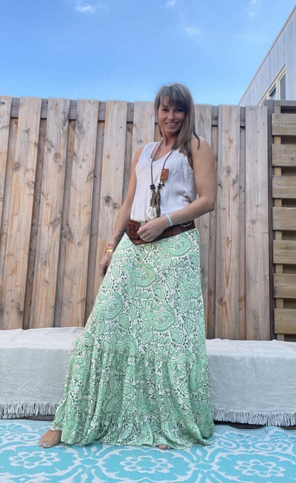 Julia Rok van Gold en Silver Groen kleur.