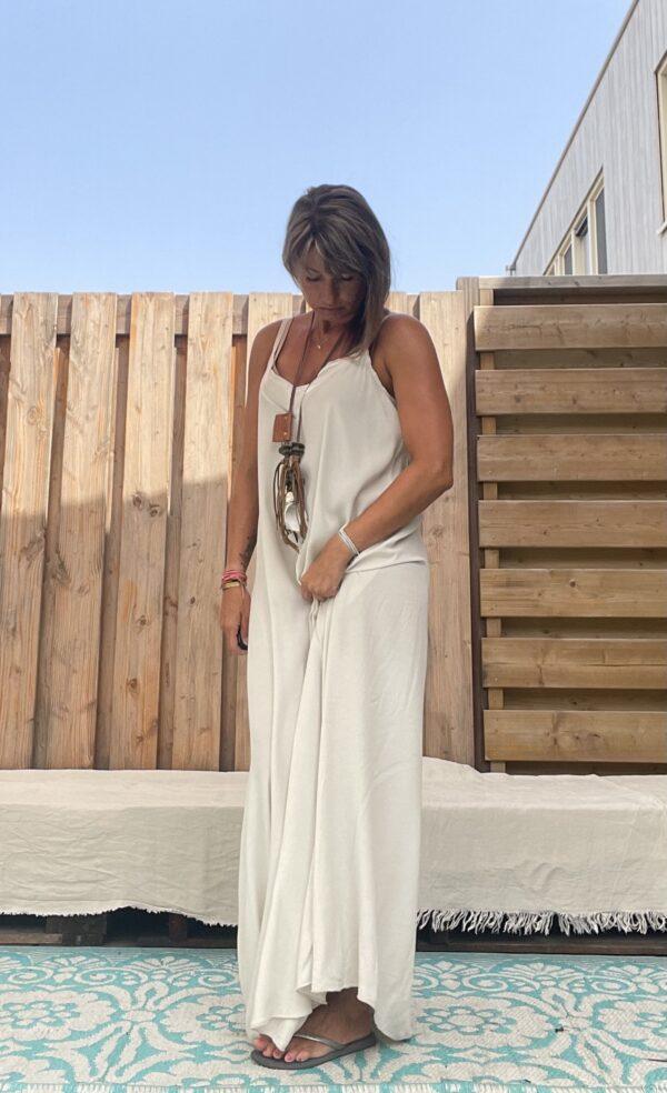 Jot Kimono en Jurk- one size -Off White kleur.