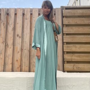 Jot Kimono en Jurk- one size -Petrol kleur.